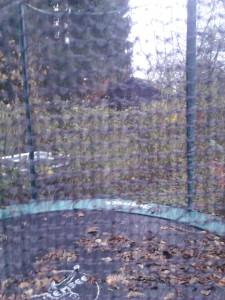 Schmutz auf dem Trampolin