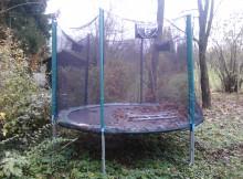 chiemsee Gartentrampolin von der Seite