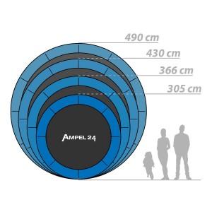Verfügbare Größen des Modells