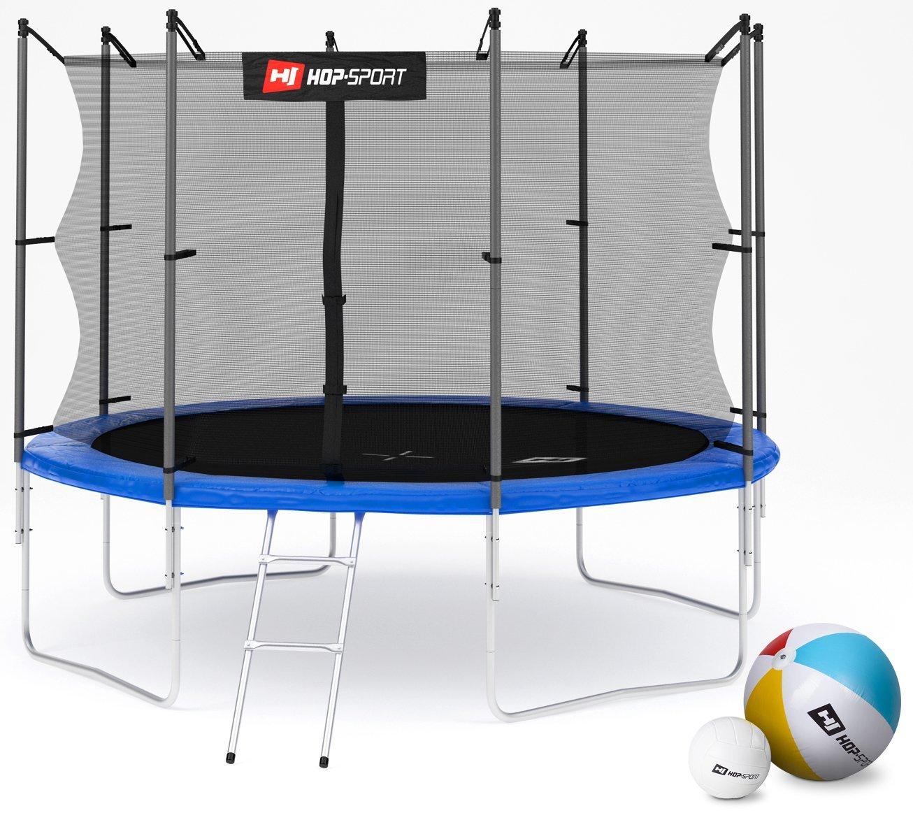 hop sport gartentrampolin mit 244 305 366 430 490 cm im check. Black Bedroom Furniture Sets. Home Design Ideas