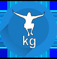 Maximales Benutzergewicht auf Trampolin Icon