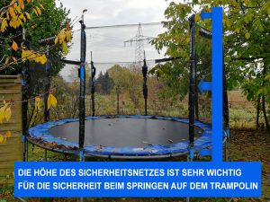 Illustration Sicherheitsnetz beim Trampolin
